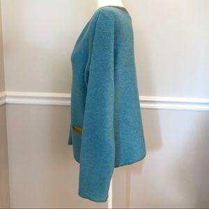 Sundance Sweaters - Sundance Extra Fine Merino Wool Cardigan Large Blu